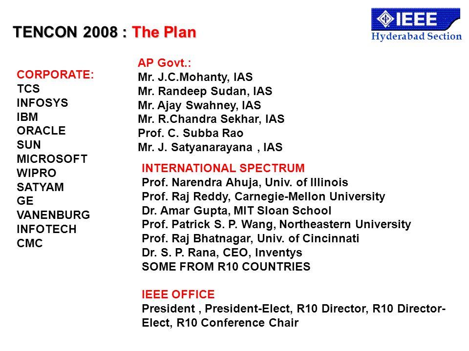TENCON 2008 : The Plan AP Govt.: Mr. J.C.Mohanty, IAS CORPORATE: