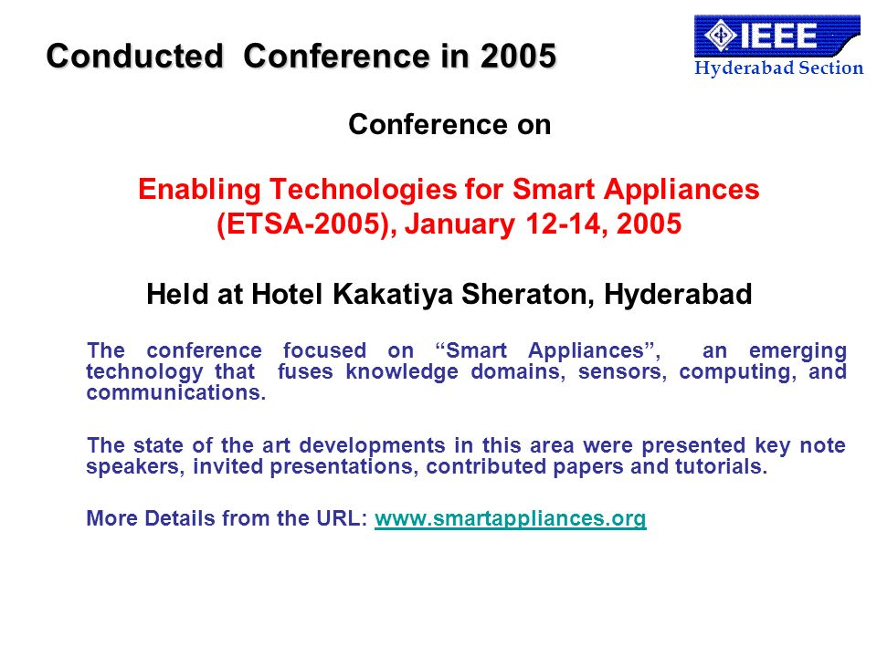 Conducted Conference in 2005