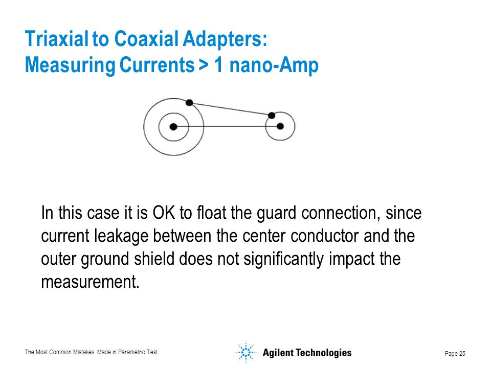 Triaxial to Coaxial Adapters: Measuring Currents > 1 nano-Amp