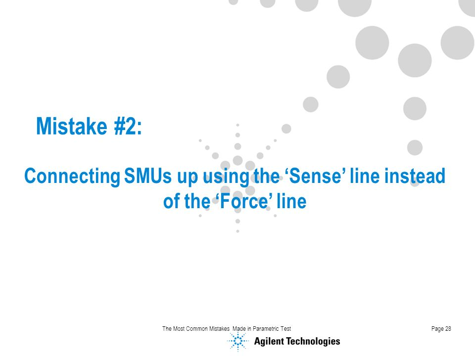Connecting SMUs up using the 'Sense' line instead of the 'Force' line