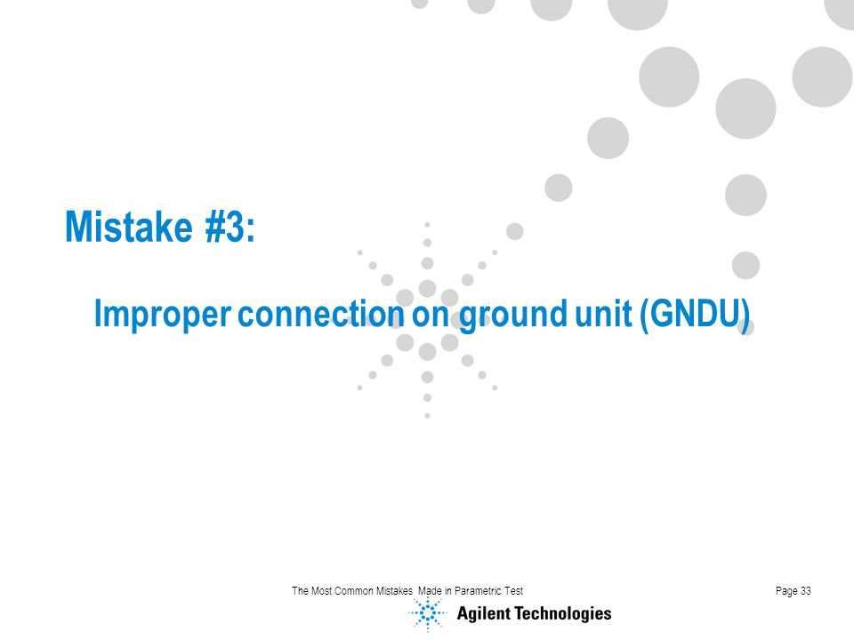 Improper connection on ground unit (GNDU)