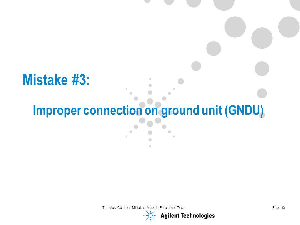 Improper connection on ground unit (GNDU)