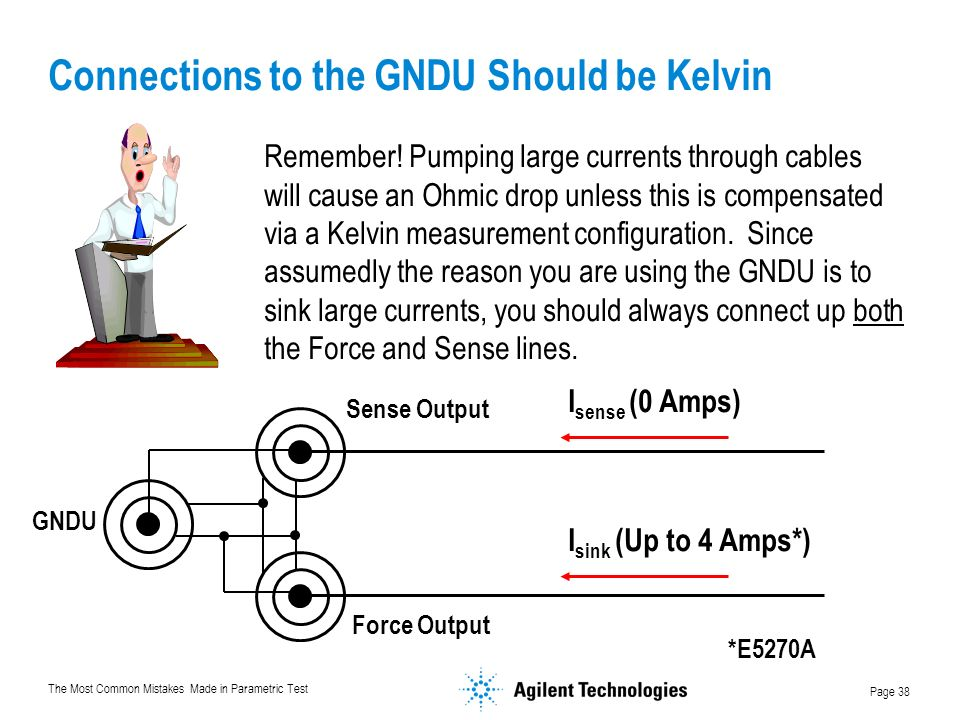 Connections to the GNDU Should be Kelvin