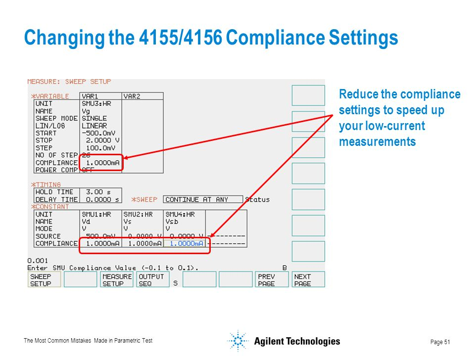 Changing the 4155/4156 Compliance Settings