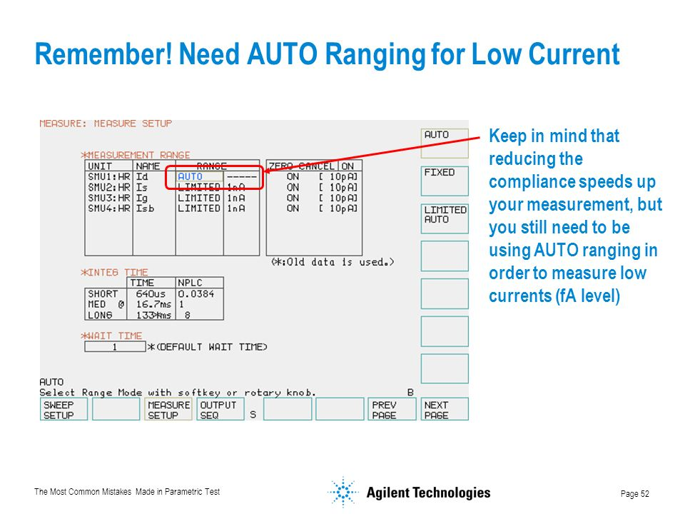 Remember! Need AUTO Ranging for Low Current