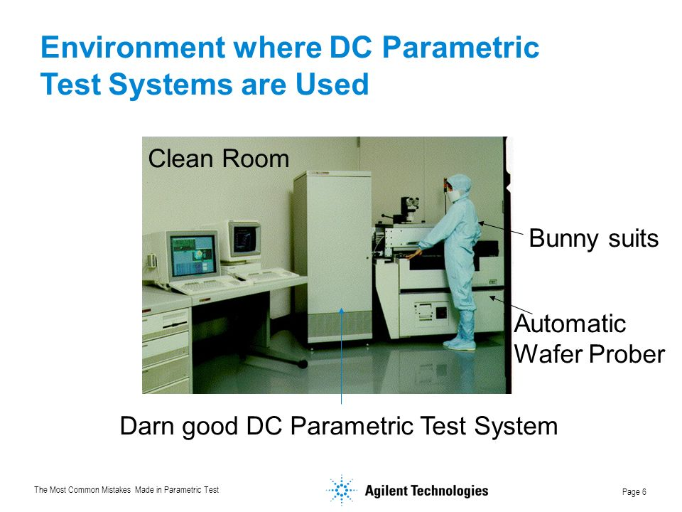 Environment where DC Parametric Test Systems are Used