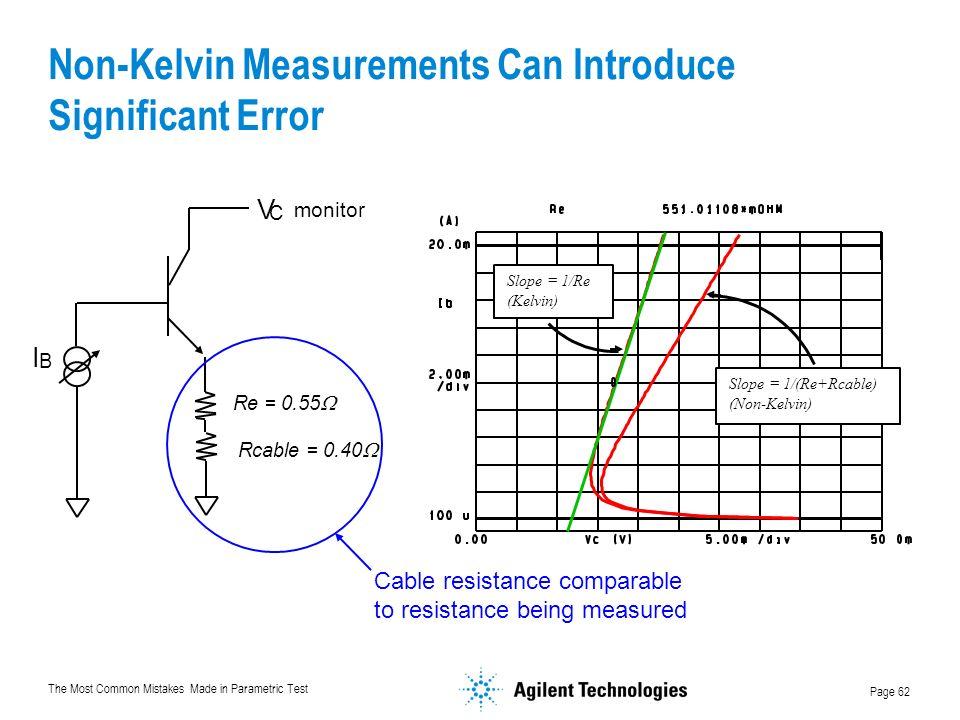 Non-Kelvin Measurements Can Introduce Significant Error