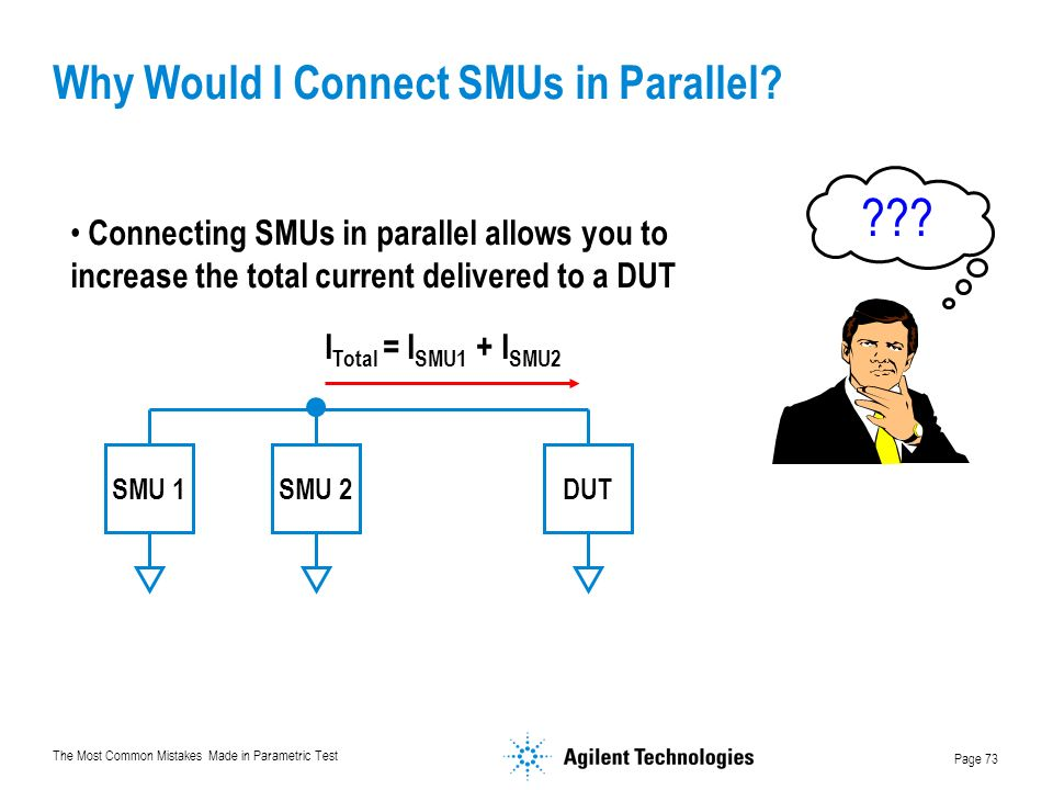 Why Would I Connect SMUs in Parallel