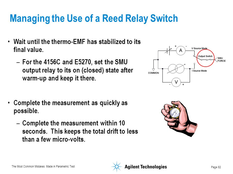 Managing the Use of a Reed Relay Switch