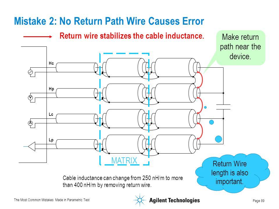 Mistake 2: No Return Path Wire Causes Error