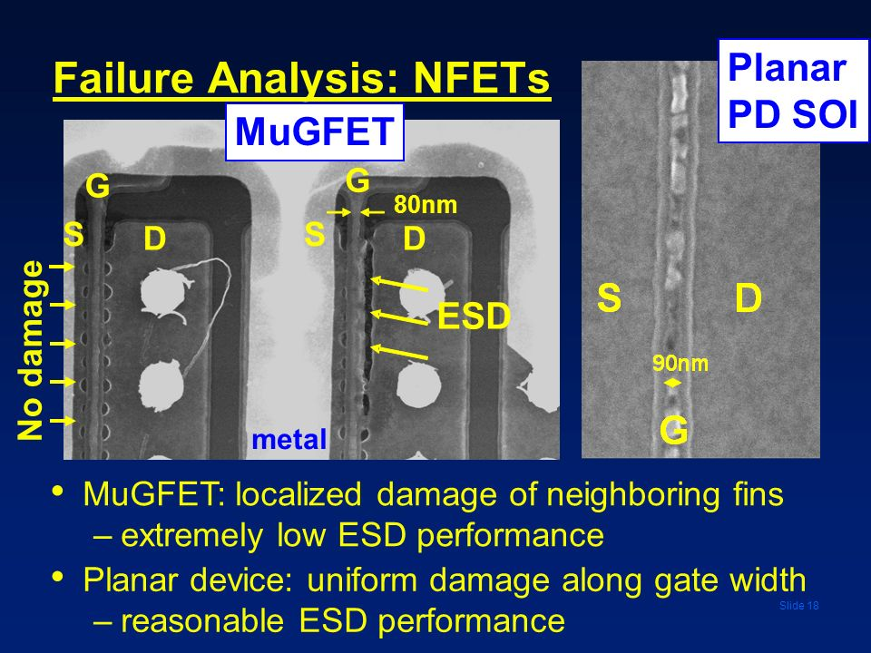 Failure Analysis: NFETs