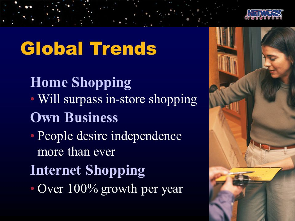 Global Trends Home Shopping Own Business Internet Shopping
