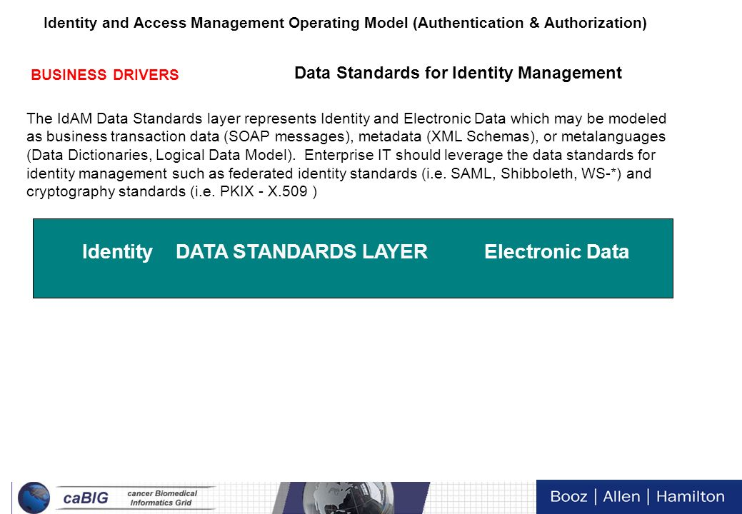 Identity DATA STANDARDS LAYER Electronic Data