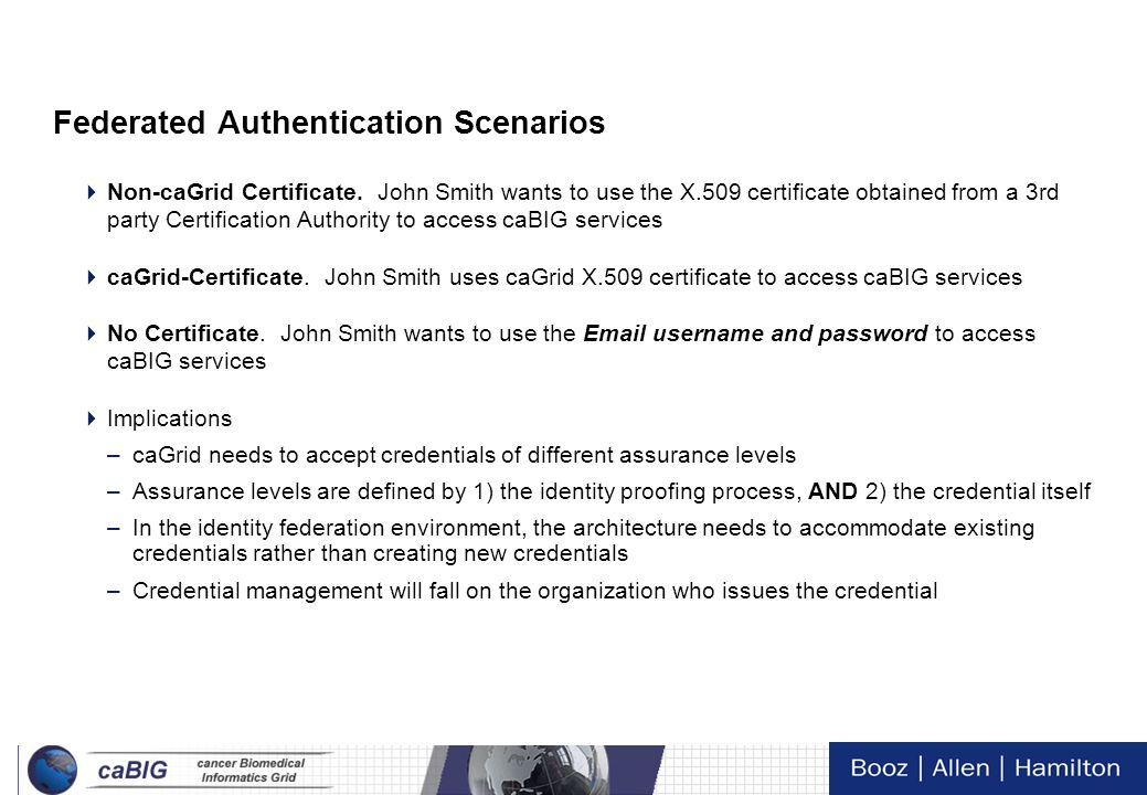 Federated Authentication Scenarios