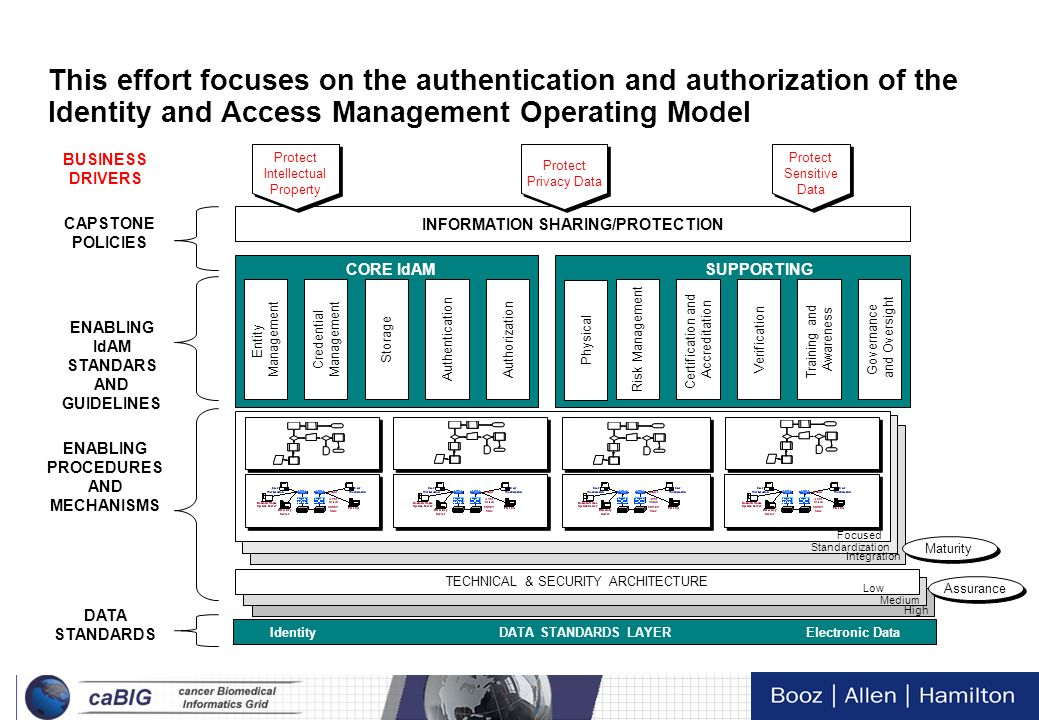 This effort focuses on the authentication and authorization of the Identity and Access Management Operating Model