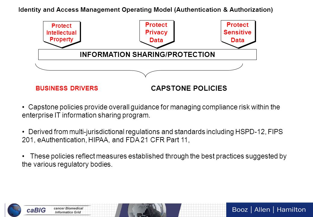 INFORMATION SHARING/PROTECTION CAPSTONE POLICIES