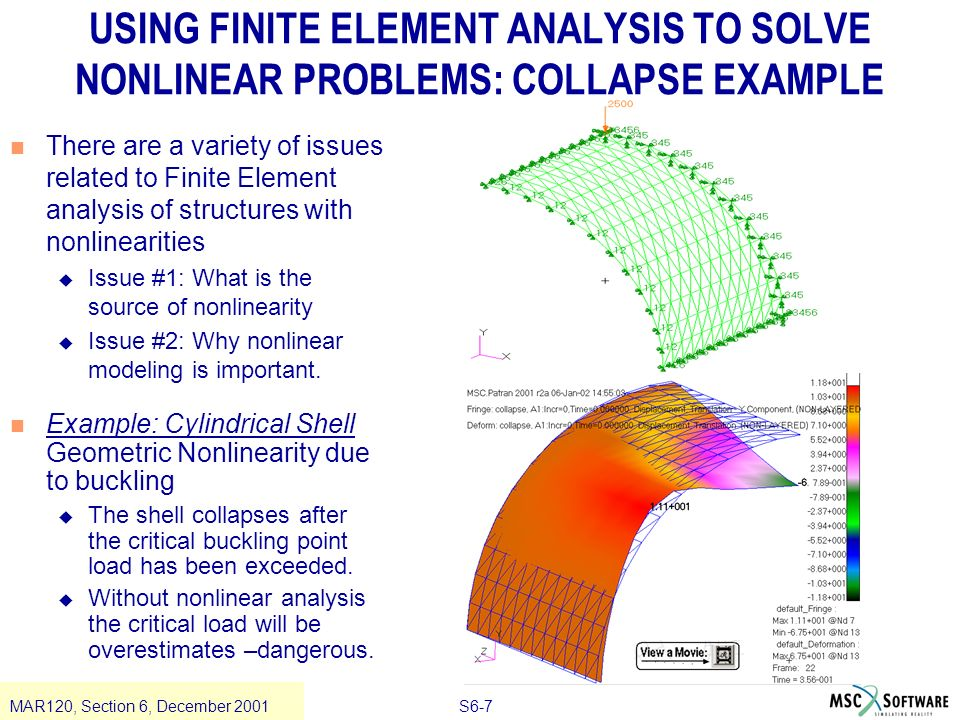 Section 6 nonlinearity ppt video online download for Finite elemente analyse