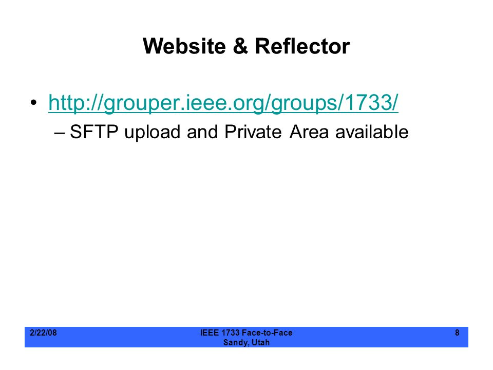 Website & Reflector