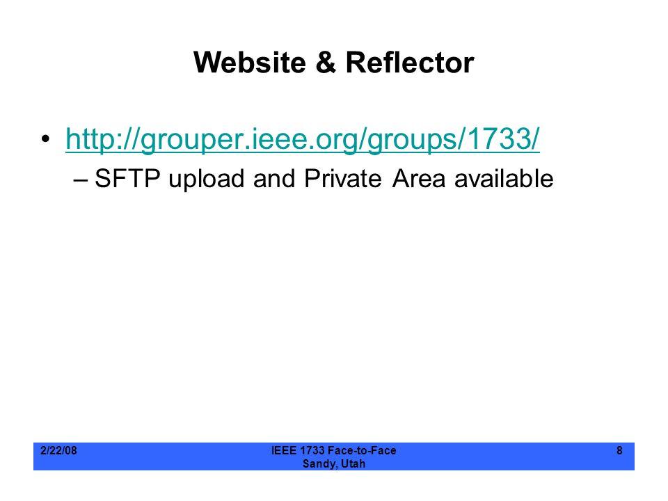 Website & Reflector http://grouper.ieee.org/groups/1733/