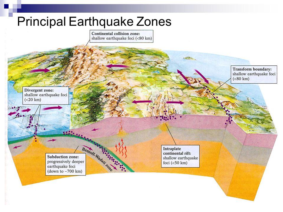 Principal Earthquake Zones