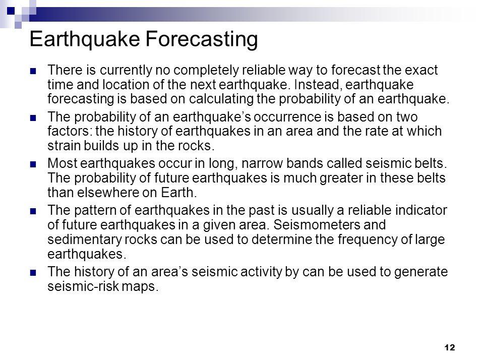 Earthquake Forecasting