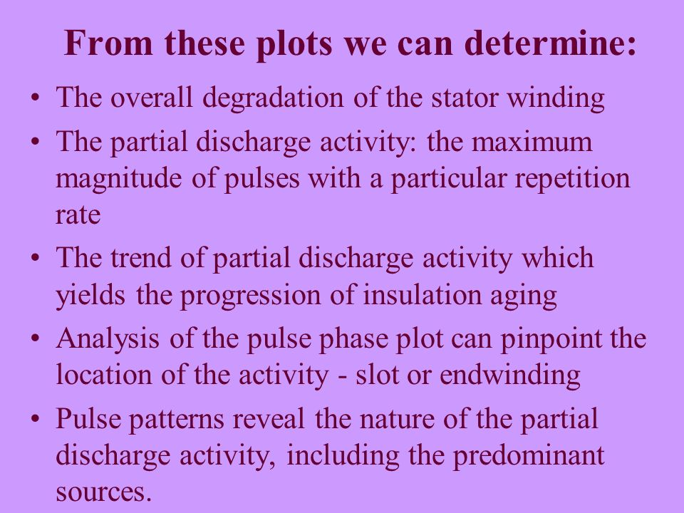 From these plots we can determine: