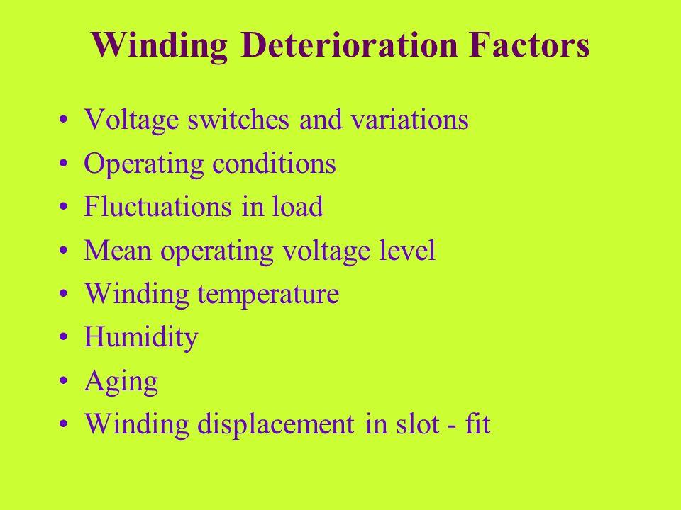 Winding Deterioration Factors