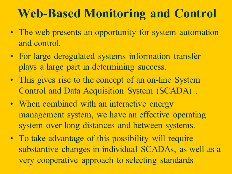 Web-Based Monitoring and Control