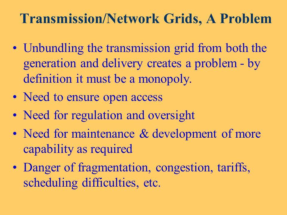 Transmission/Network Grids, A Problem
