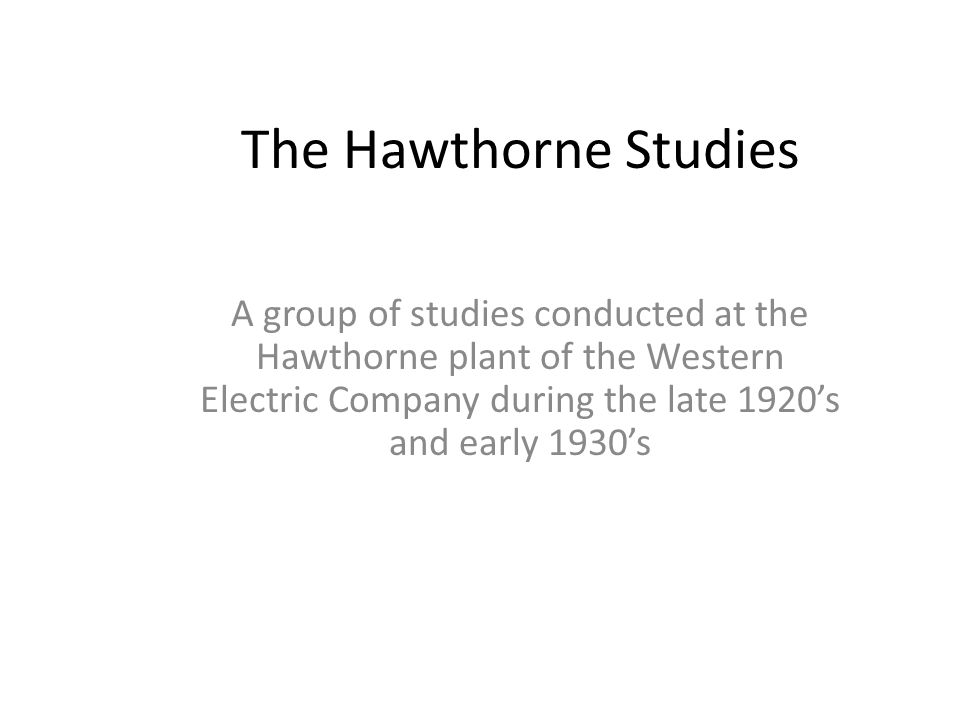 The Hawthorne Effect and Behavioral Studies - Verywell Mind
