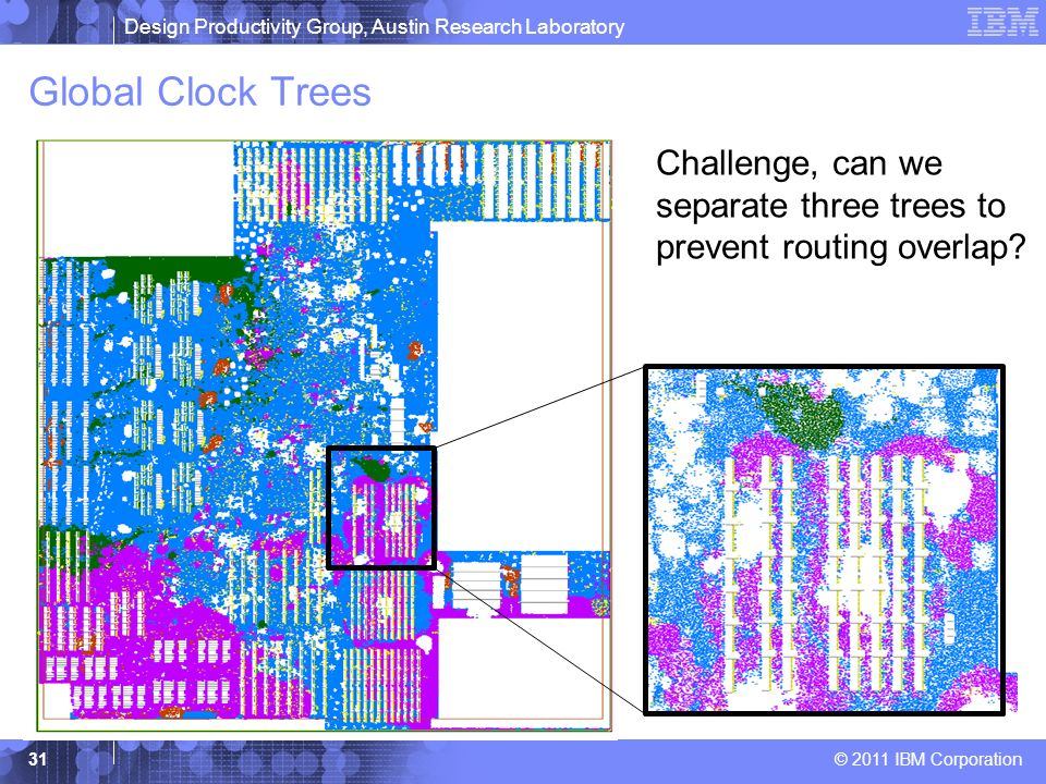 Global Clock Trees Challenge, can we separate three trees to prevent routing overlap