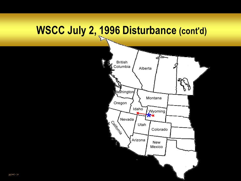 WSCC July 2, 1996 Disturbance (cont d)