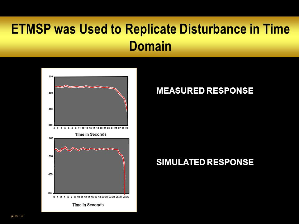ETMSP was Used to Replicate Disturbance in Time Domain