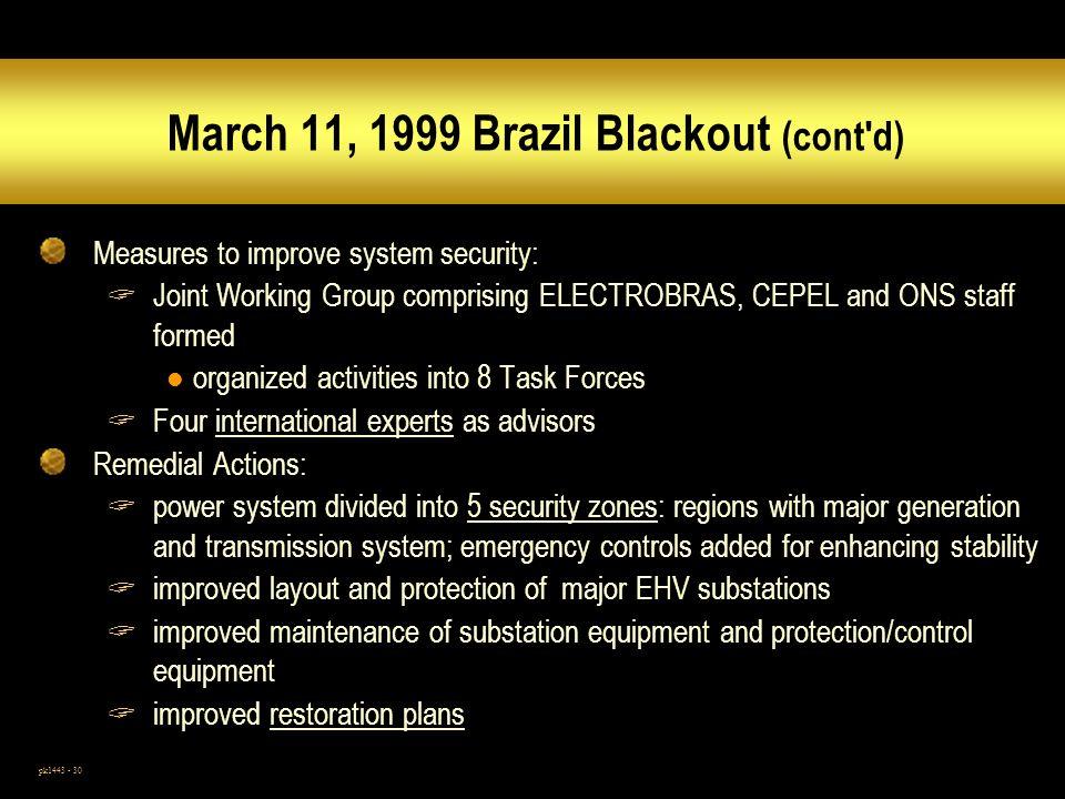 March 11, 1999 Brazil Blackout (cont d)