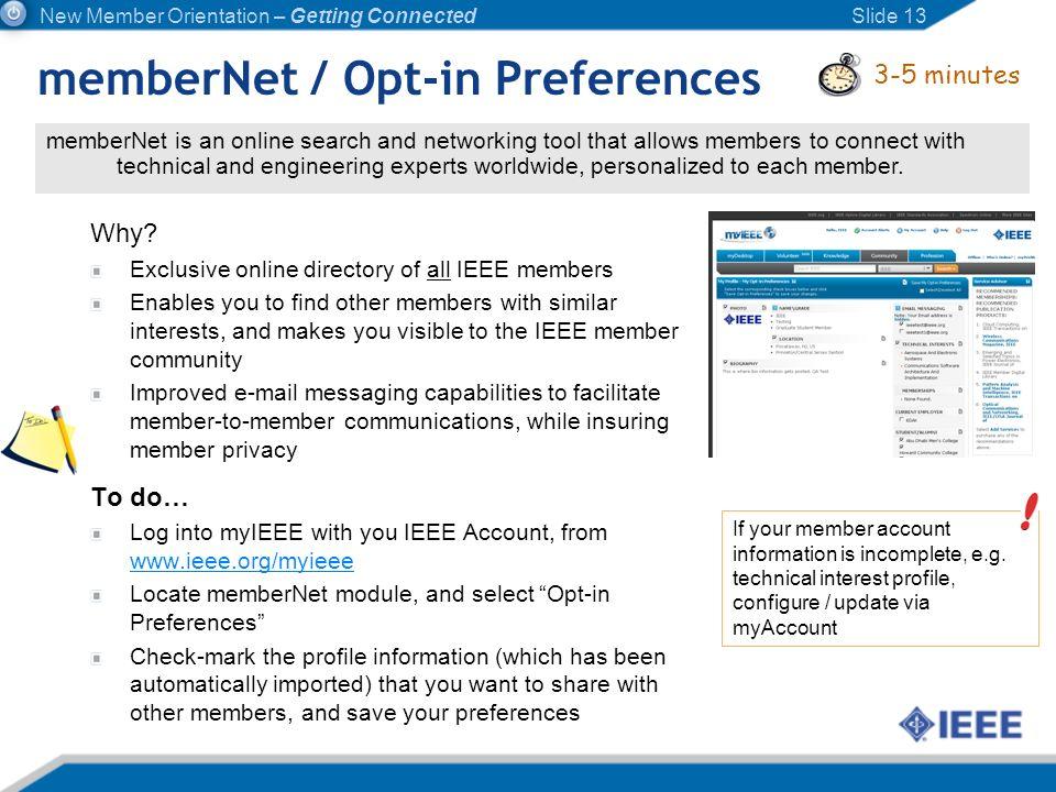 memberNet / Opt-in Preferences