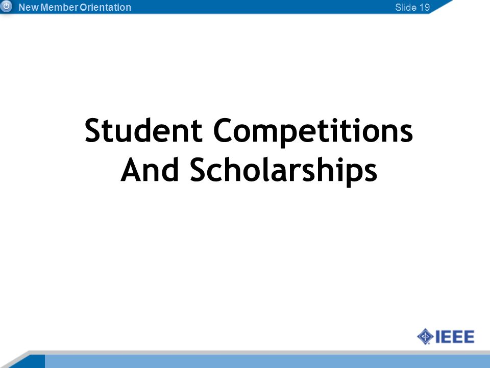 Student Competitions And Scholarships