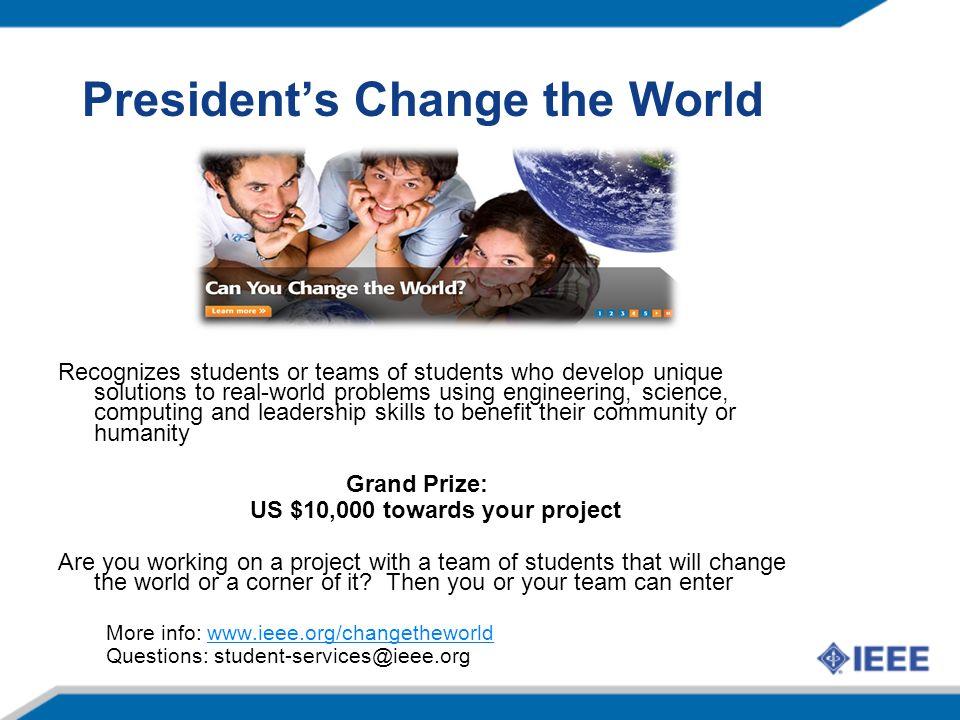 President's Change the World