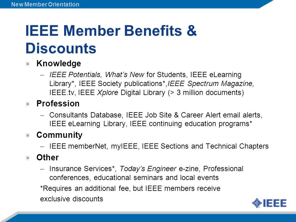 IEEE Member Benefits & Discounts