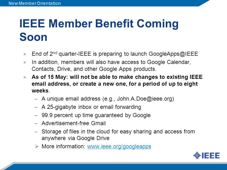 IEEE Member Benefit Coming Soon