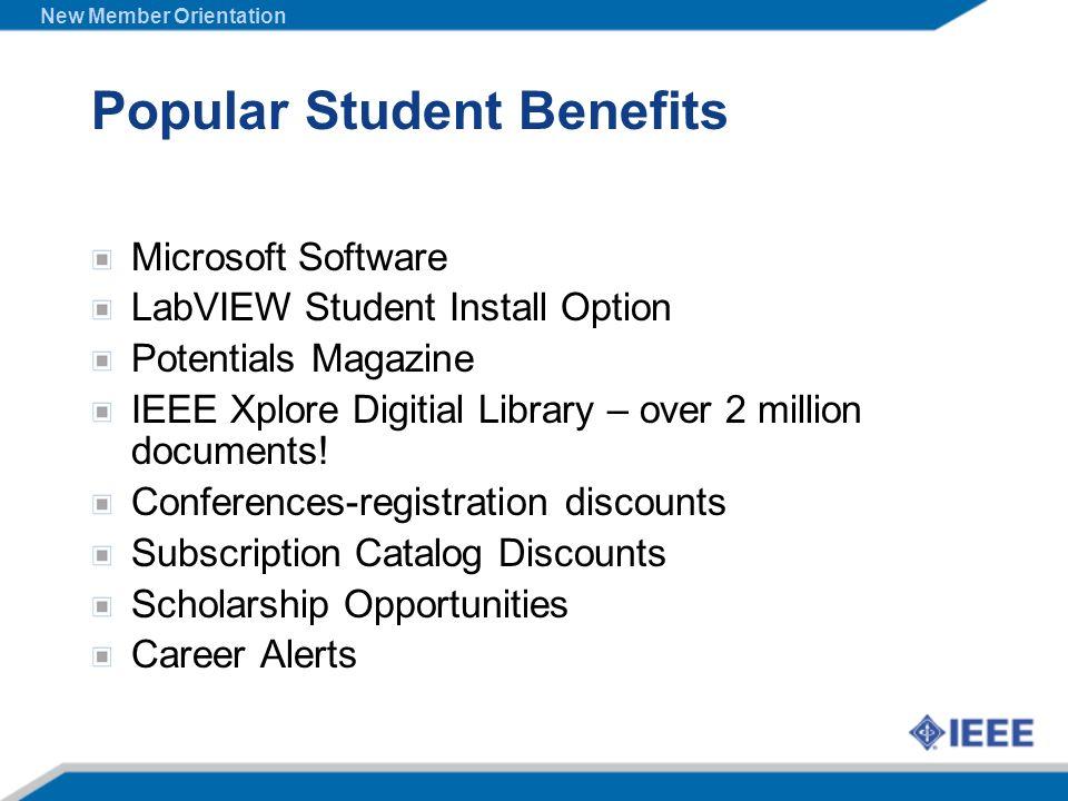 Popular Student Benefits