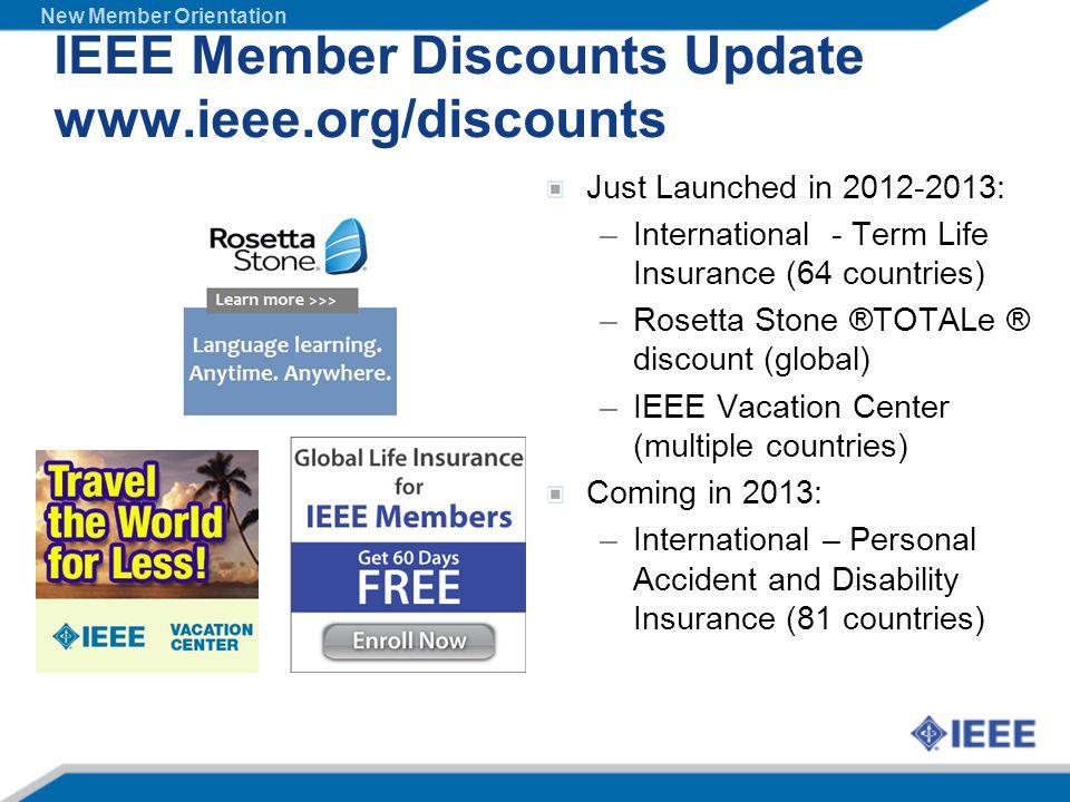 IEEE Member Discounts Update www.ieee.org/discounts