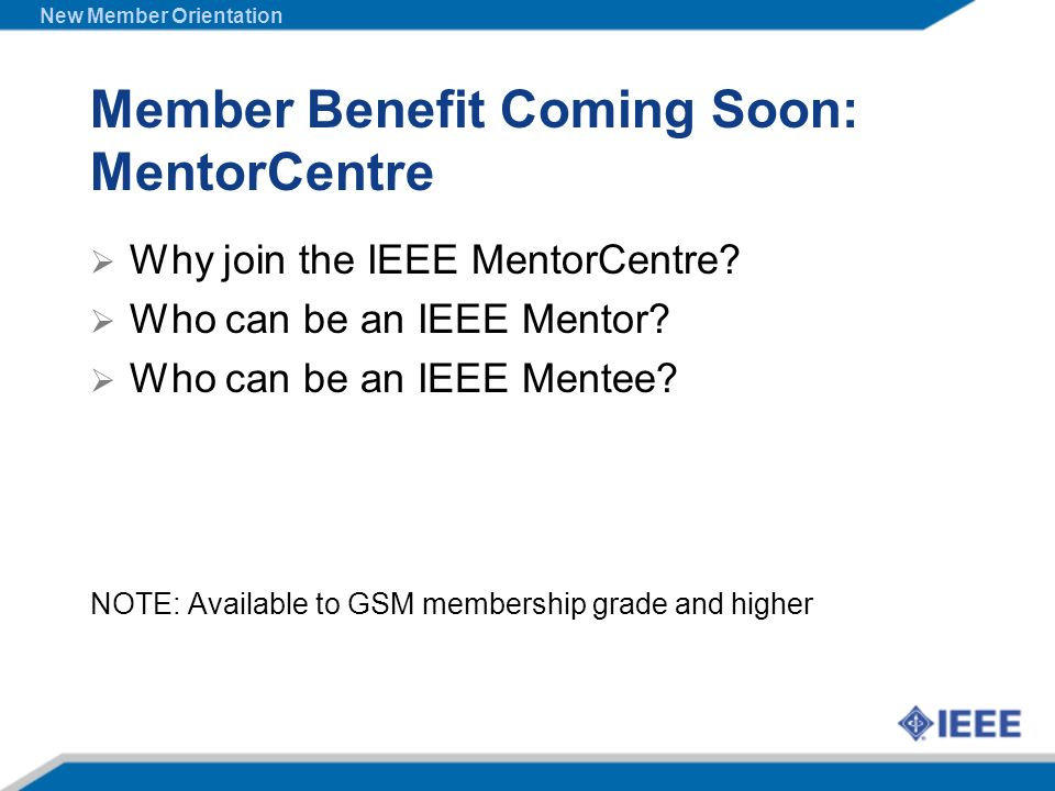 Member Benefit Coming Soon: MentorCentre