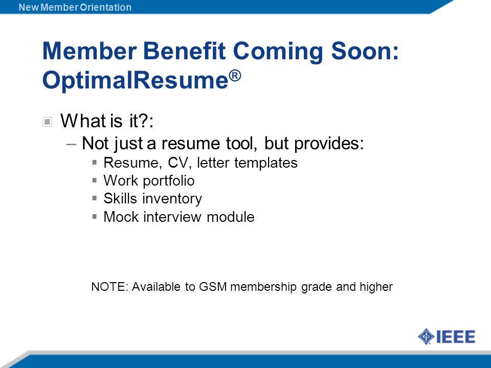 Member Benefit Coming Soon: OptimalResume®