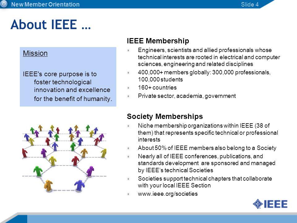 About IEEE … IEEE Membership Mission Society Memberships