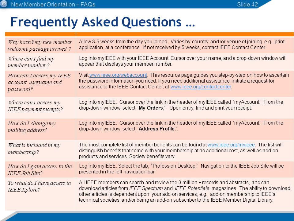 Frequently Asked Questions …
