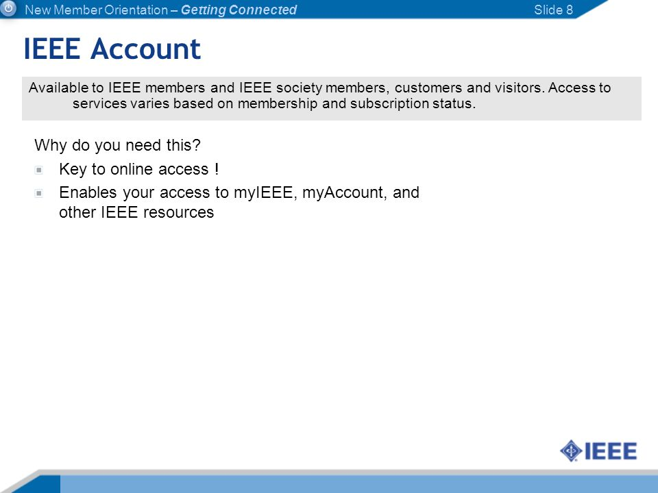 IEEE Account Why do you need this Key to online access !