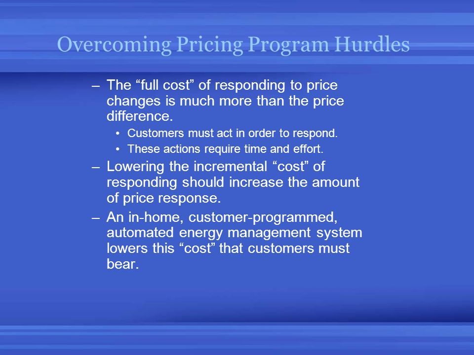Overcoming Pricing Program Hurdles
