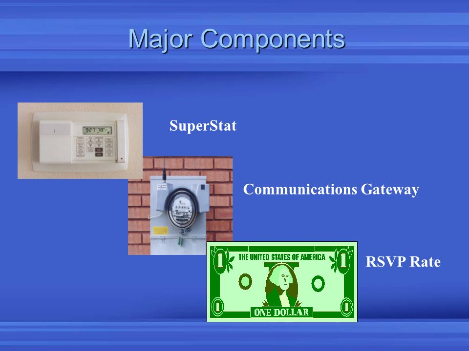 Major Components SuperStat Communications Gateway RSVP Rate