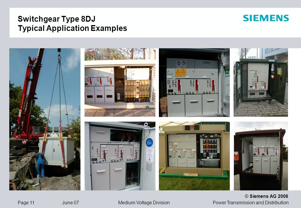 Switchgear Type 8DJ Typical Application Examples