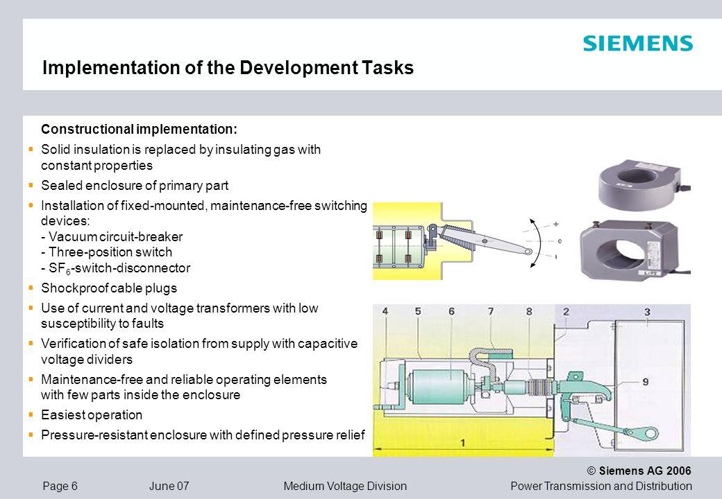 Implementation of the Development Tasks